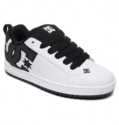 DC SHOES MENS TRAINERS.COURT GRAFFIK WHITE LEATHER PADDED SKATE SHOES 8S 27 XKWW